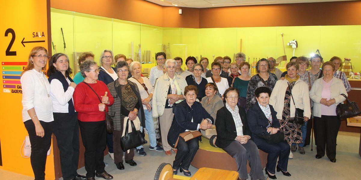Visita al Melga del Curso de Alfabetización y Memoria de Concello A Laracha