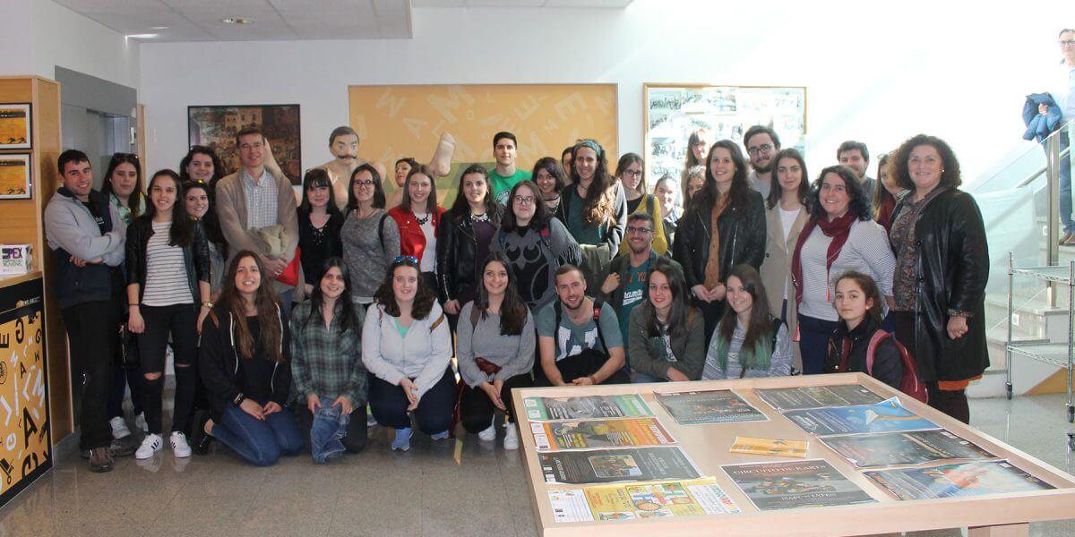 VISITA DA FACULTADE DE CIENCIAS DA EDUCACIÓN SOCIAL DA UNIVERSIDADE DE SANTIAGO DE COMPOSTELA