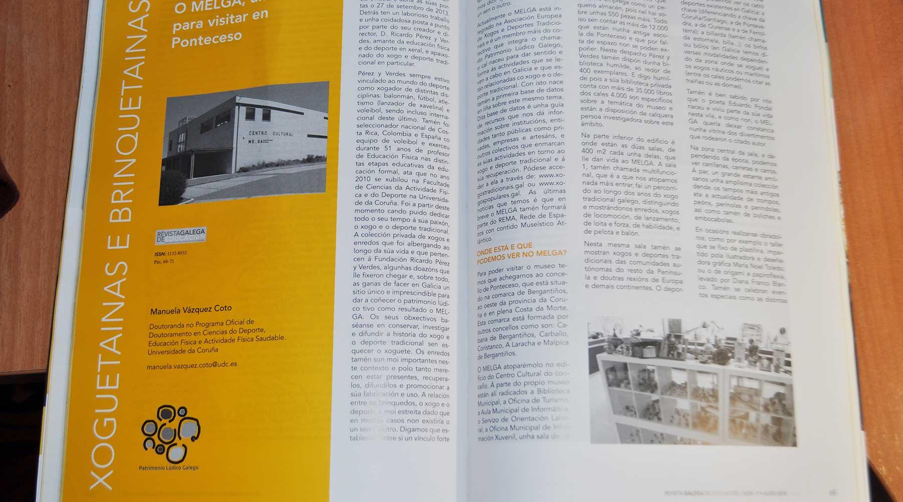 O Melga na Revista Galega de Educación