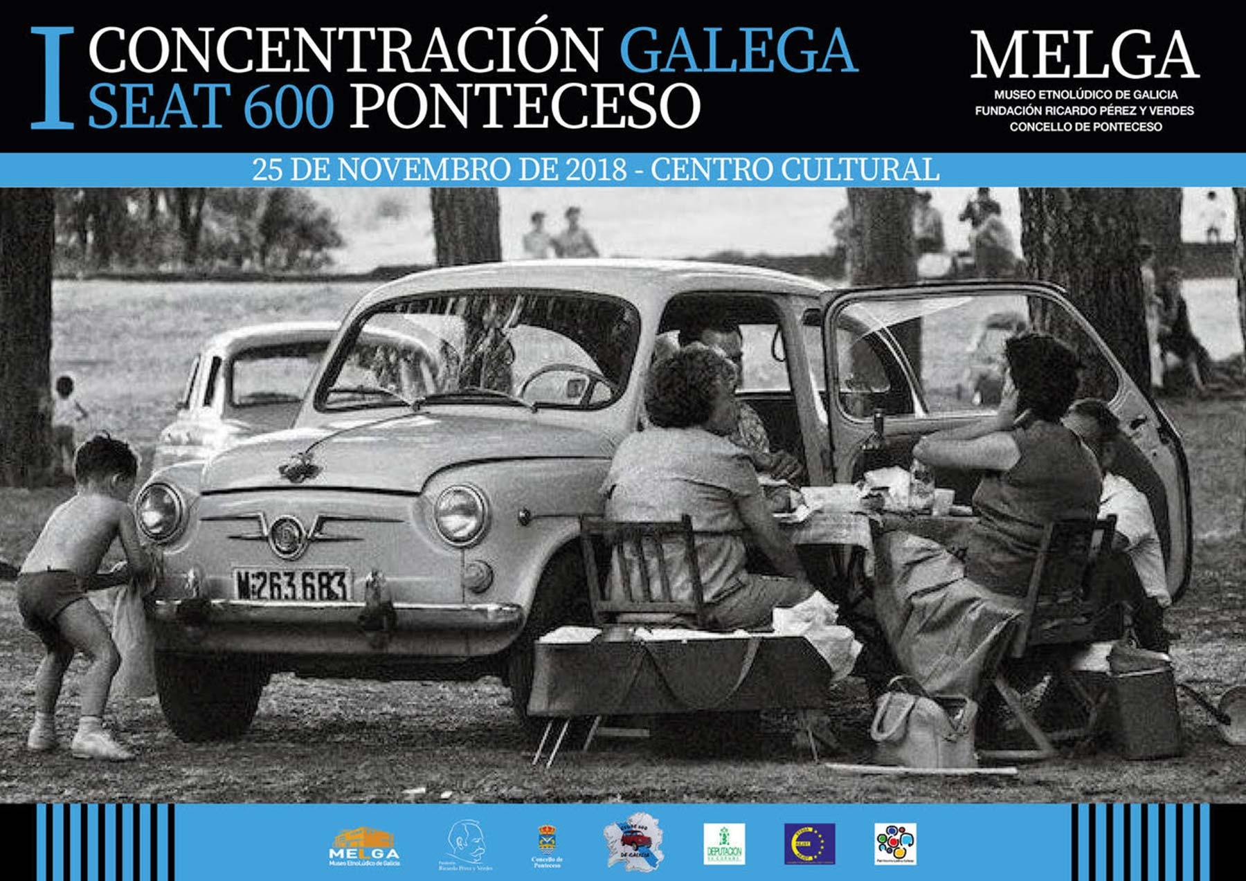 Primeira concentración de Clubes Seat 600 de Galicia no Melga