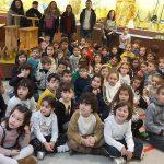 O CEIP. Bergantiños de Carballo visita o Melga cun grupo numeroso de Educación Infantil