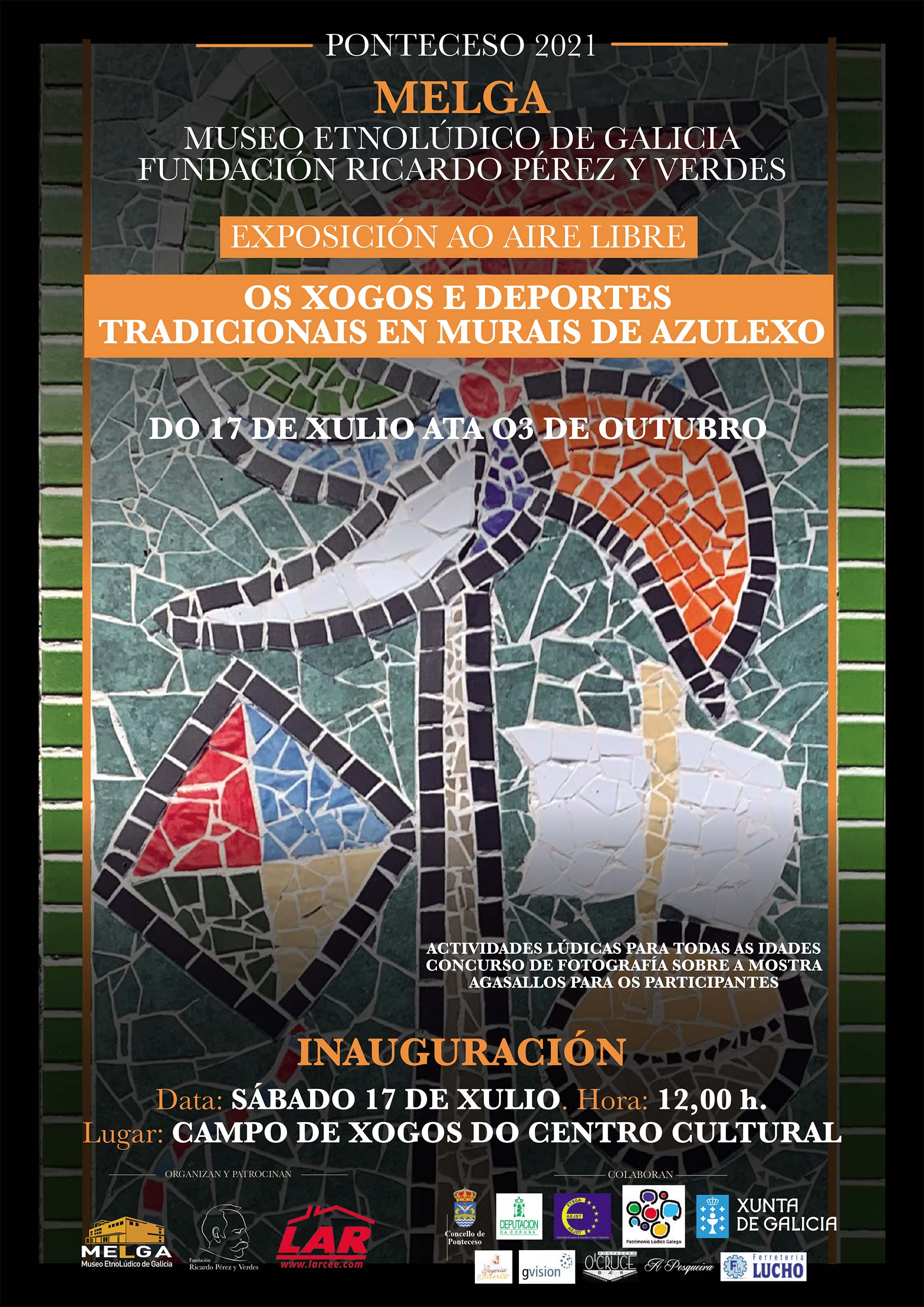 Exposición al aire libre sobre Juegos y Deportes Tradicionales en murales de azulejo