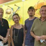 O escritor Jose Lopez Gonzalez visita o Melga